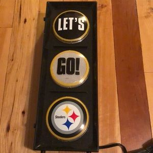 Let's Go Steelers lighted decor